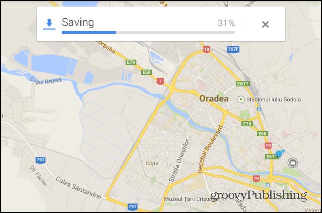 Google Maps saving