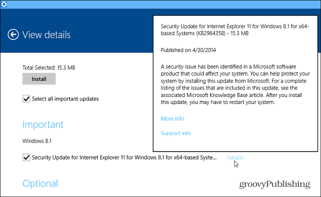 Microsoft IE Update Windows 8.1