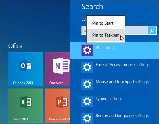 Pin Taskbar or Start