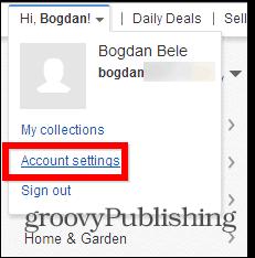 eBay change password account settings