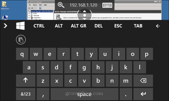 RDP Windows Phone 8.1 Keyboard