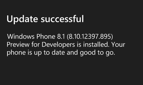 Update Successful