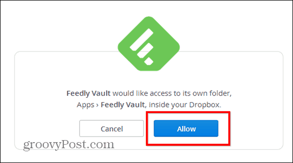 Feedly beta dropbox vault allow db
