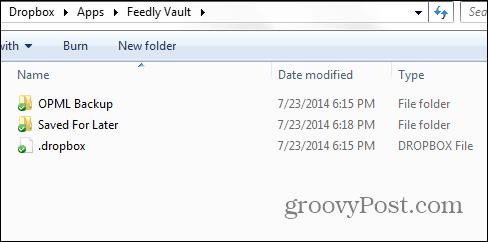 Feedly beta dropbox vault done