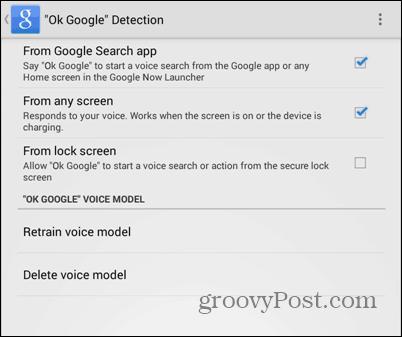 OK Google everywhere settings voice finished