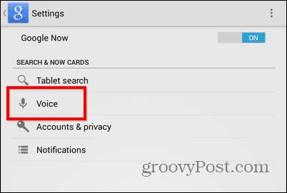 OK Google everywhere settings voice