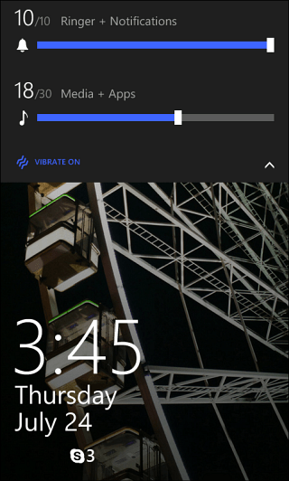WP8 Lock Screen