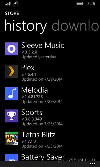 Windows Phone Store History
