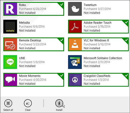 install multiple apps