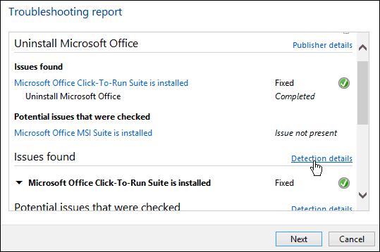troubleshooting report