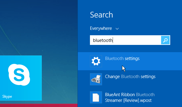 Bluetooth Search Windows