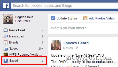 Facebook Save saved