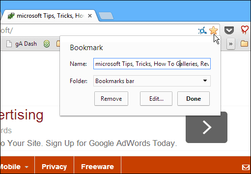 Make Your Browser Bookmarks Bar Only Display Site Icons