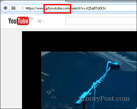 Gif YouTube address