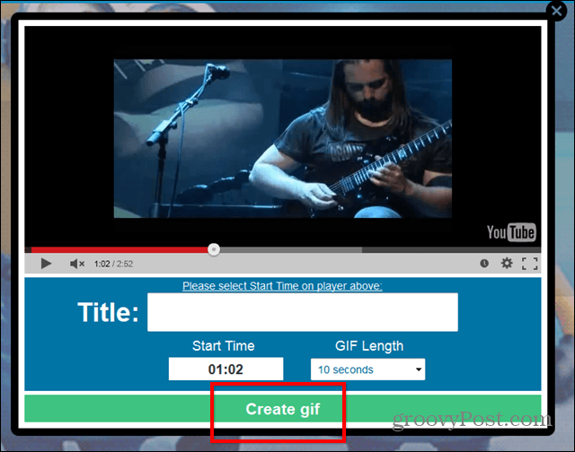 Gif YouTube website create