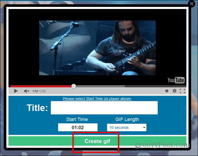 Gif YouTube website create