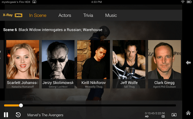 Kindle Fire HDX IMDB