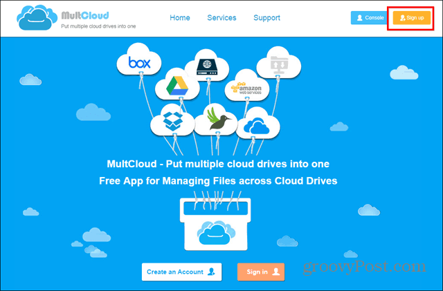 MultCloud sign up