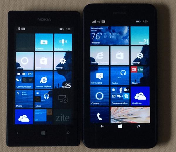 Nokia Lumia 520 and 635