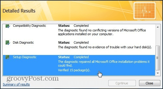 microsoft office standard 2007 setup has stopped working