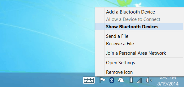 Show Bluetooth Devices