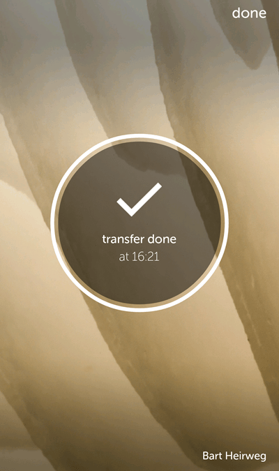 WeTransfer Android complete