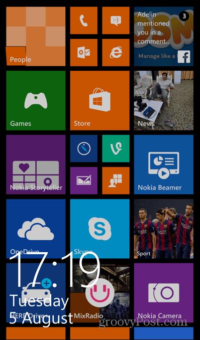 Windows Phone 8.1 screenshot lock on