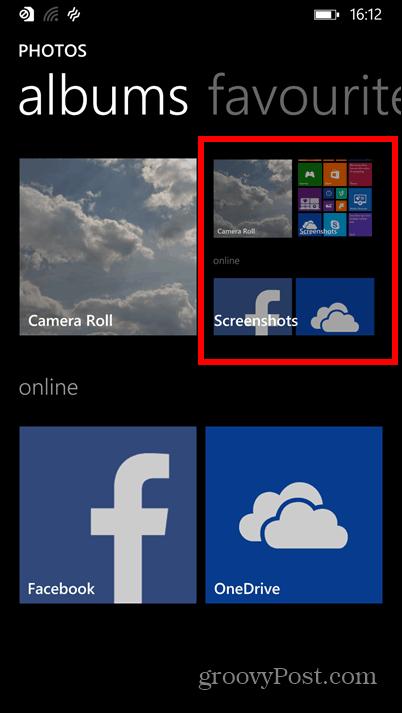Windows Phone 8.1 screenshots albums