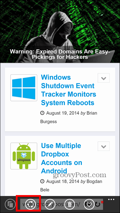Windows Phone 8.1 screenshots open