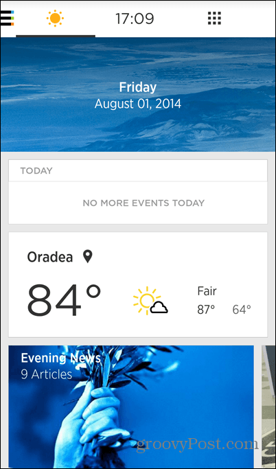 Yahoo Aviate weather