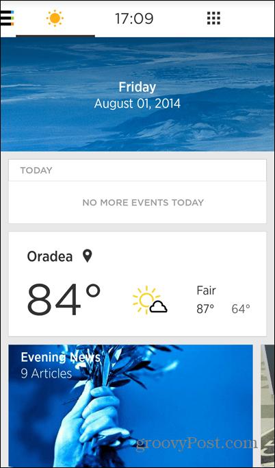 Yahoo Aviate weather