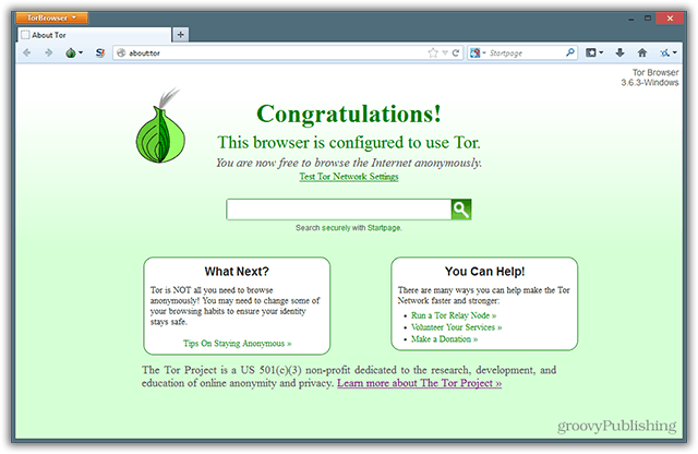 Tor Browser Bundle Downloaded Running Setup Privacy Relay Configured Safety Safe