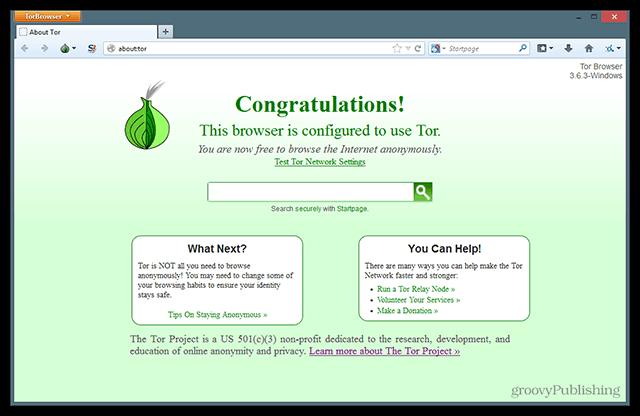 Tor Browser Bundle Downloaded Running Setup Privacy Relay Configured Safety Safe