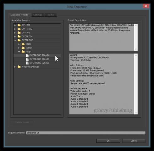 premiere pro timelapse sequence settings 720p 1080p 4K quality set framerate timelapse video edit capture