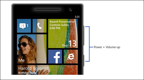 Как сделать скриншот экрана на lumia 630
