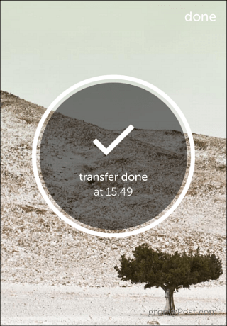 wetransfer iPhone