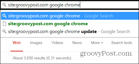 Chrome search just one site