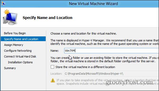 Create VM Windows 8x