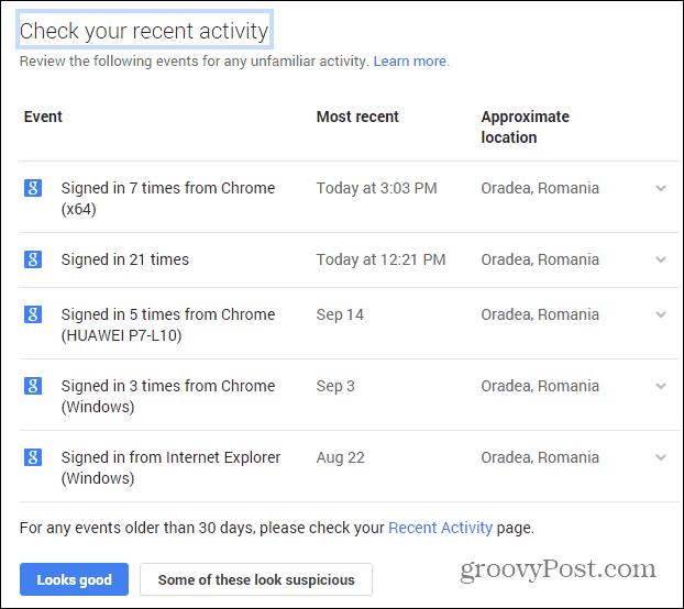Google Security wizard recent