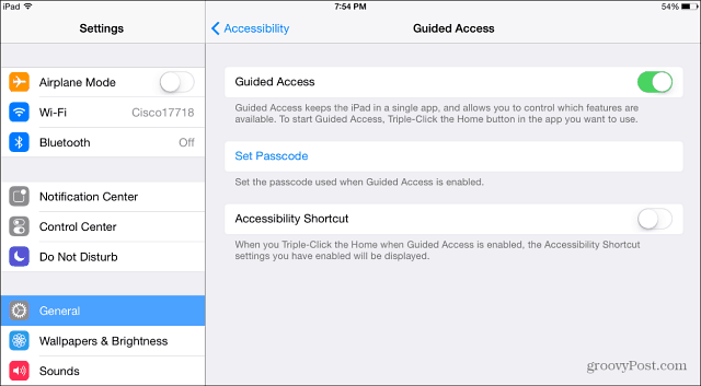 Guided Access iPad