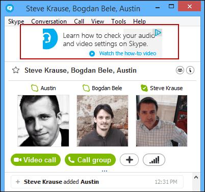 Skype Banner Ad