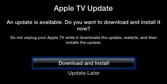 Update Apple TV Software