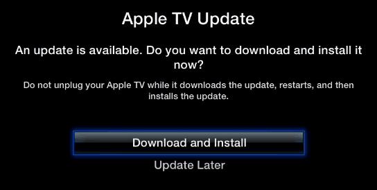 Update Apple TV Software