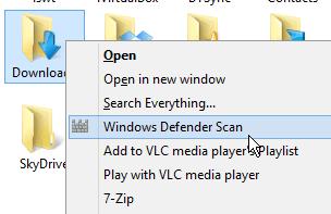 Windows 8 1 Tip: Add Windows Defender to the Context Menu