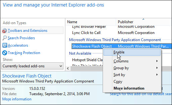 Windows 8.1 Tip: Make Flash Player Work in Internet Explorer 11