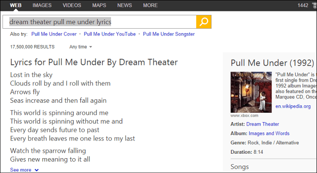 Bing Lyric Search