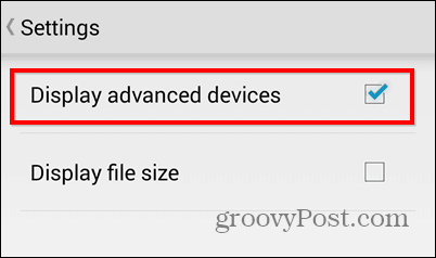 Dropbox export to SD show