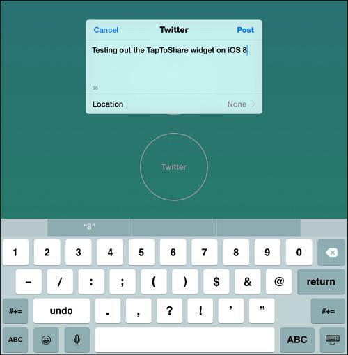 Tap to Tweet