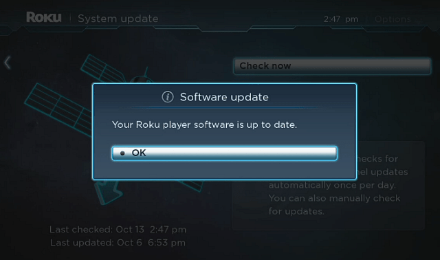 Update Roku Software