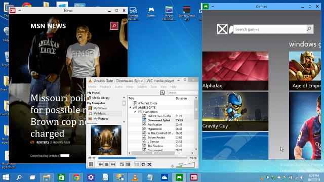 floating desktops